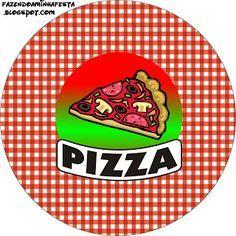 Fazendo a Minha Festa!: Pizza - Kit Completo com molduras para convites, rótulos para guloseimas, lembrancinhas e imagens!