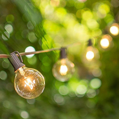 Globe String Lights 2 Inch E12 Bulbs 100 Foot Brown Wire C7 Strand Indoor Outdoor Light Bistro Lights Wedding Tent Strand Event Ligh Outdoor Wedding Patio