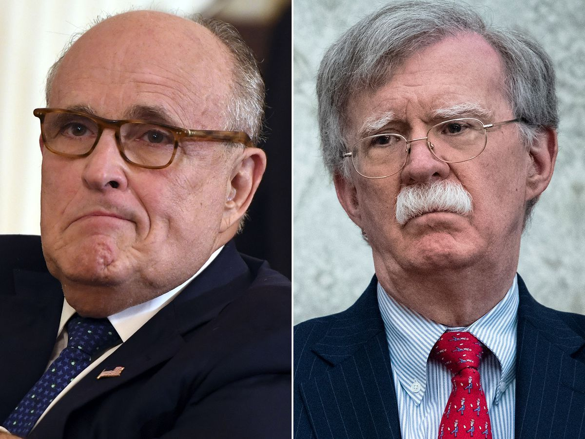 Rudy Giuliani Calls John Bolton A Backstabber And A Swamp Character Over Ukraine Claims In 2020 Rudy Giuliani Bolton John
