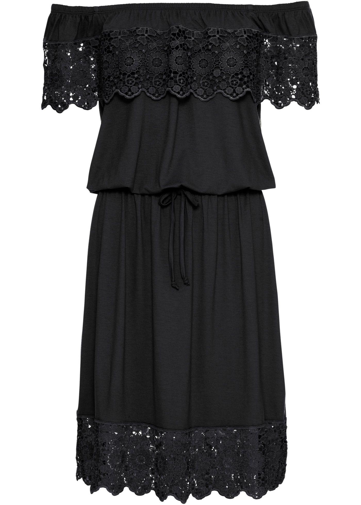 Kleid mit Carmenausschnitt  Kleider damen, Kleid mit