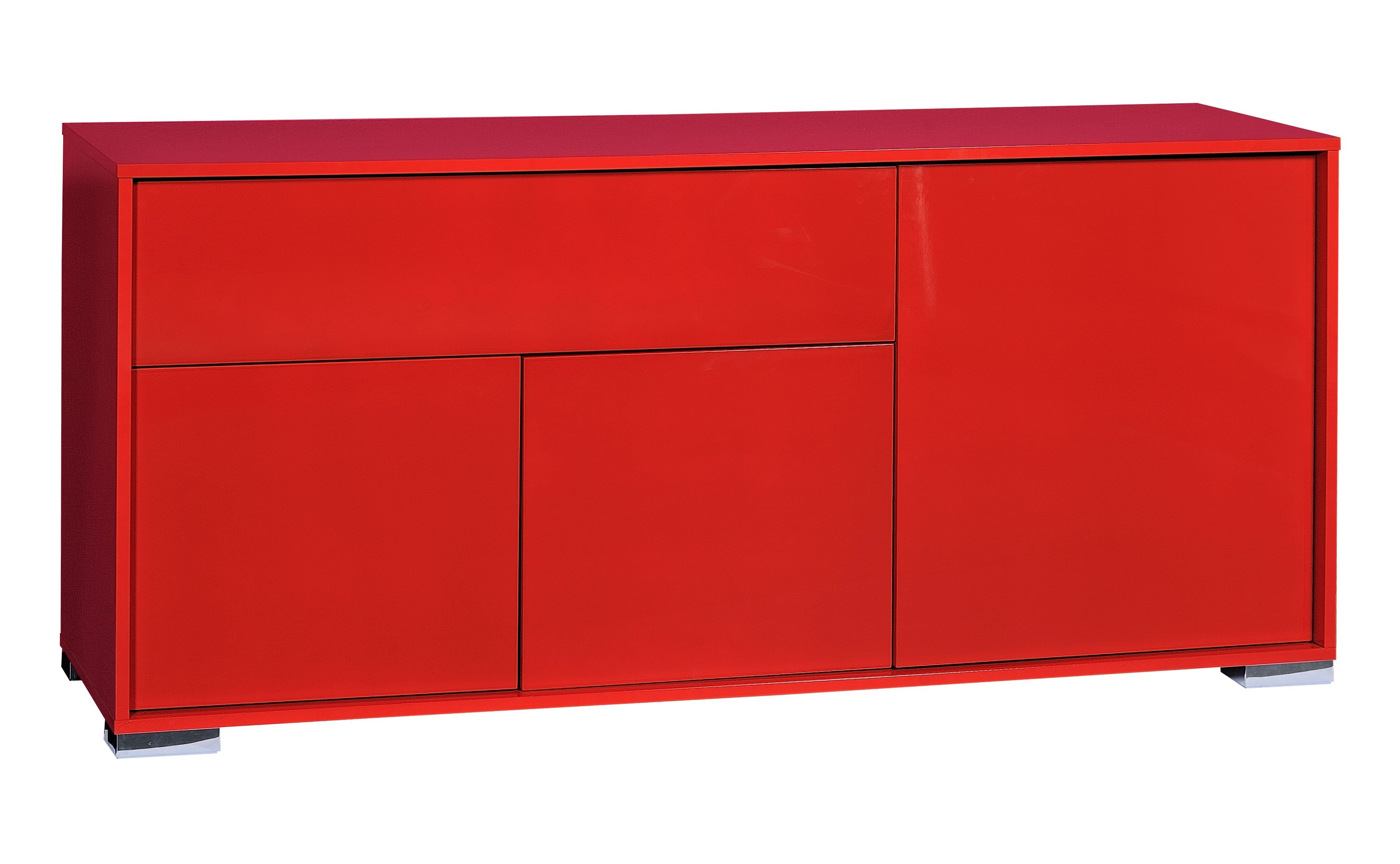 buffet 3 portes rouge brillant like