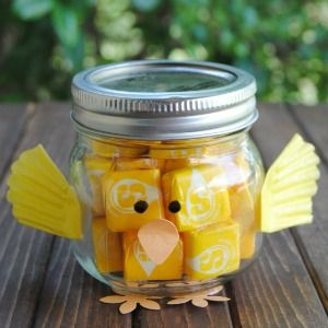 Make a mason jar chick for spring 2 other great spring gifts and easter baskets negle Images