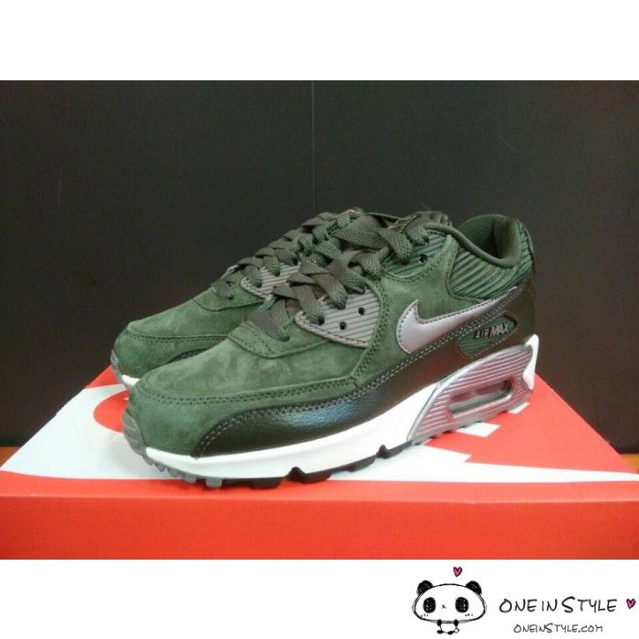 best sneakers e0cf3 6de61 netherlands nike air max 90 trainers carbon green metallic pewter b6495  5cbbf