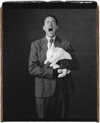 Robert Downey Jr And A Bunny Your Argument Is Invalid Mary Ellen Mark Downey Junior Robert Downey Jr