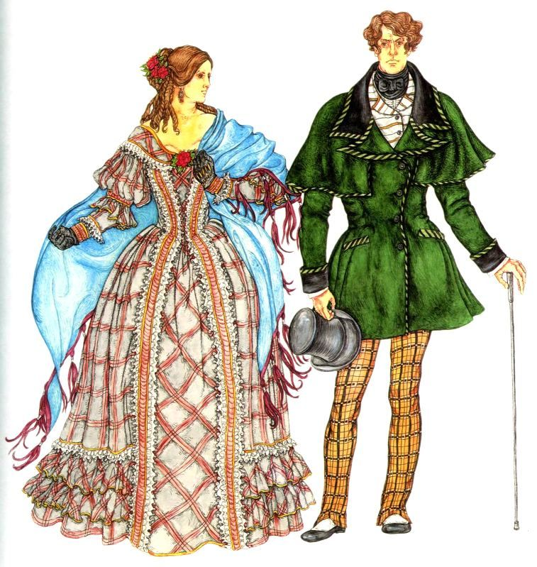 nekoliko dana kupujući sada najbolji женский и мужской костюм второй половины 19 века Европейская мода ...