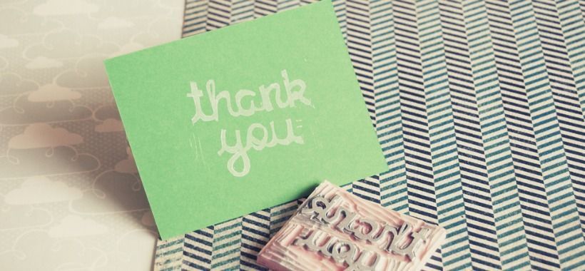 the longlost art of thankyou cards and a diy idea