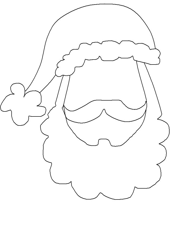 Santa Face Template Party Planner Photo Booth Props