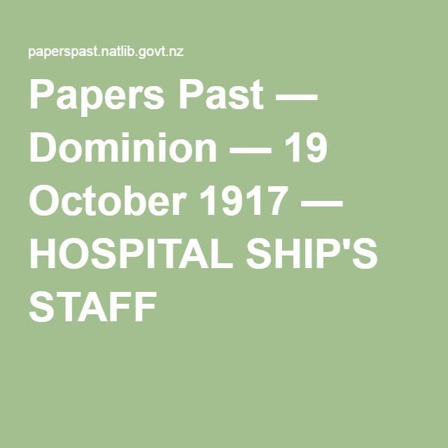 HOSPITAL SHIP'S STAFF Dominion, Volume 11, Issue 21, 19