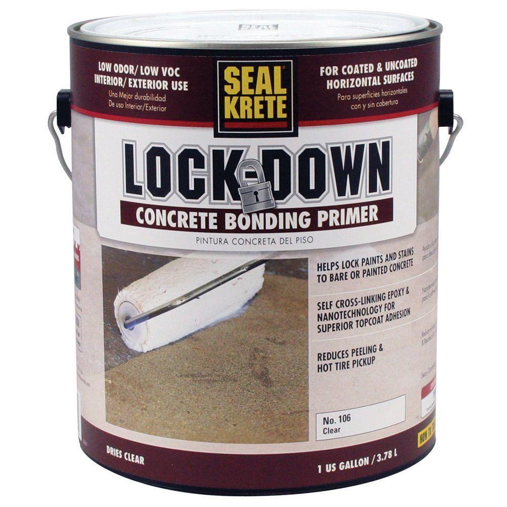 Seal Krete Lock Down 1 Gal Epoxy Bonding Floor Primer Amber To Clear Painting Concrete Painted Concrete Floors Concrete