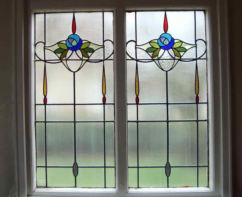 Outstanding stained glass window film artscape with simple design