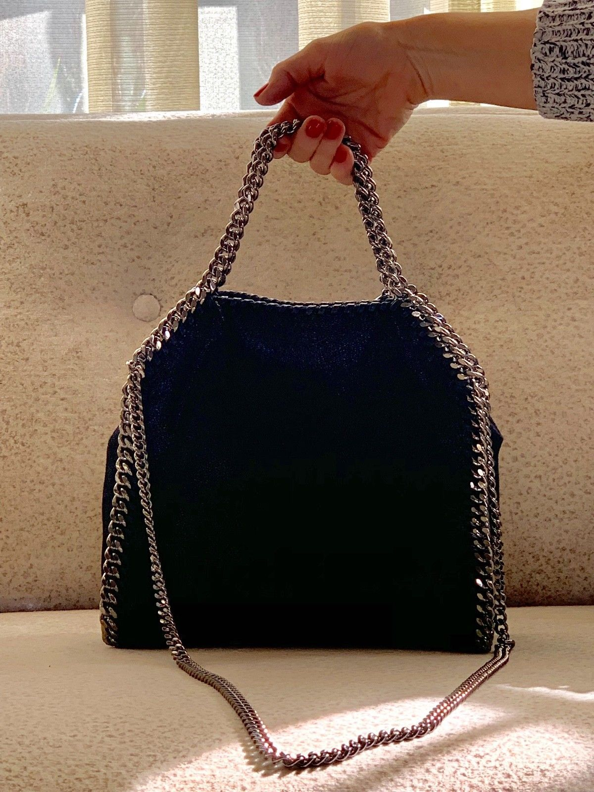 0ca819c21872 Details about NWoT Stella McCartney Falabella Foldover bag black in ...