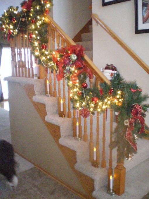 Decorating Ideas Stairways Christmas