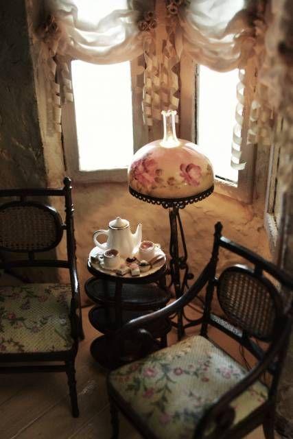Floor Lamp - WyckedWood Beacon Hill~The Sea Hag~ - Gallery - The Greenleaf Miniature Community