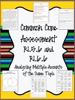 Common Core Assessment: Analyzing Multiple Accounts of the 5th grade reading getting ready :)