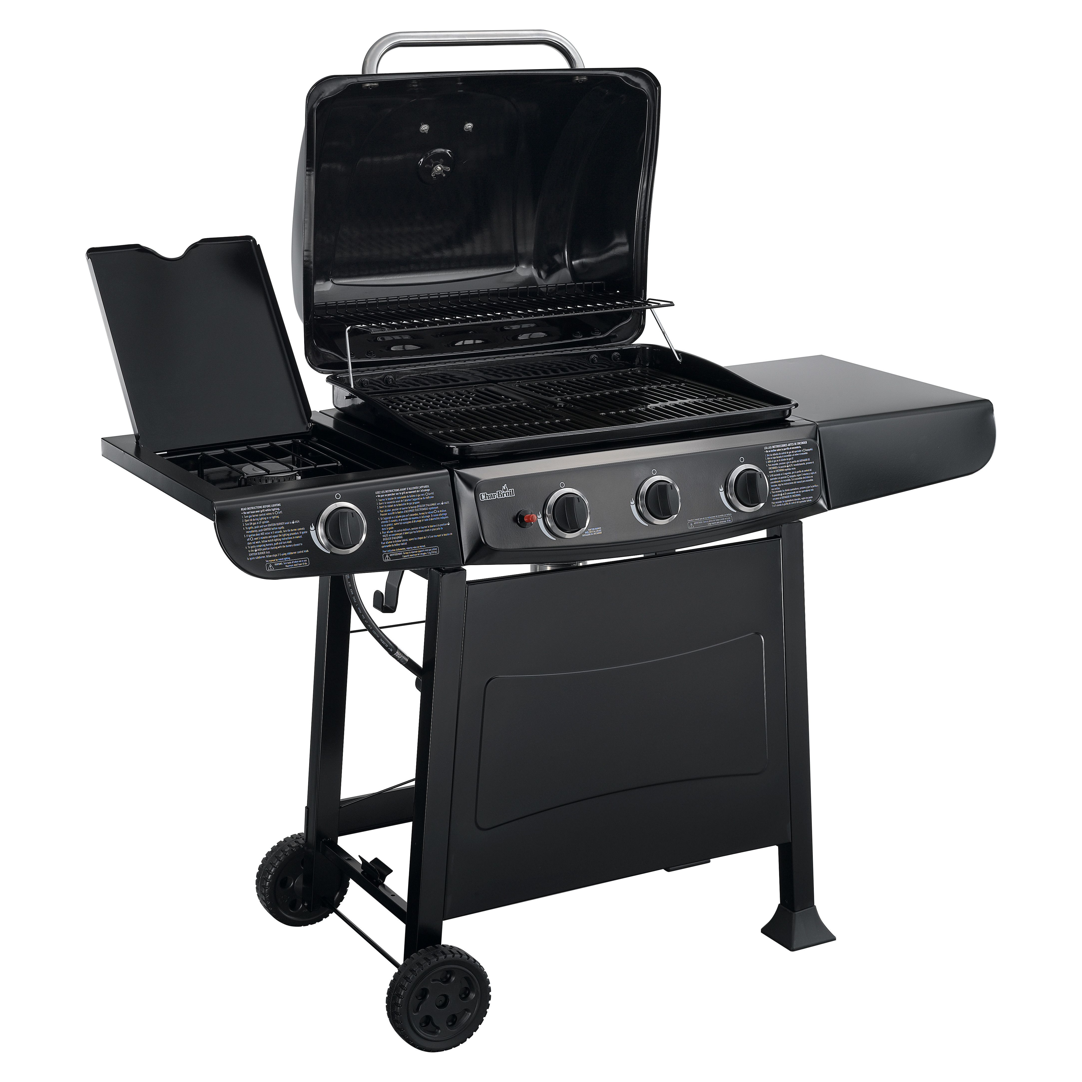 Char Broil Gas Grill with Side Burner Patio Pinterest