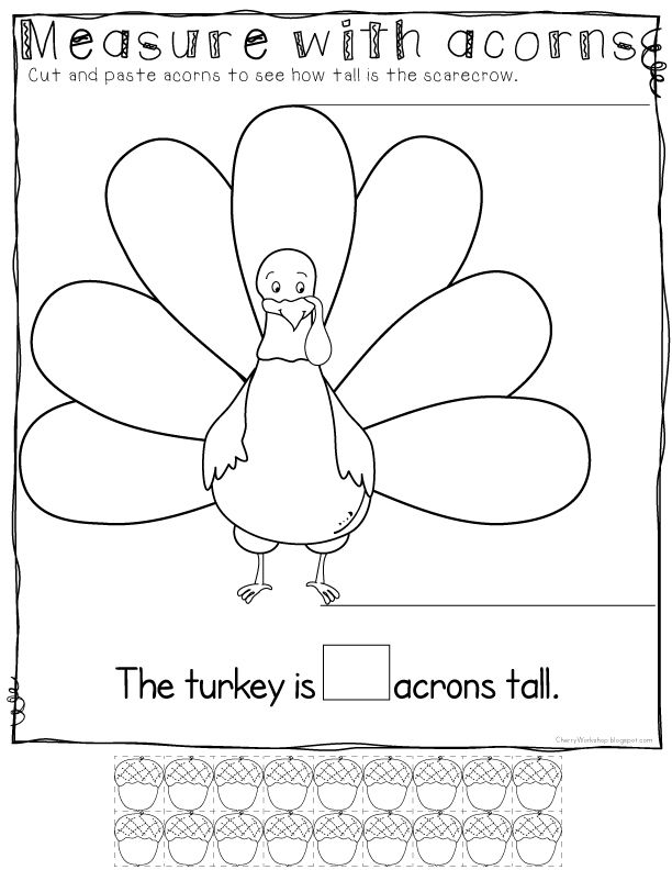 Measure a Turkey - Free Thanksgiving Math Activity 4 more FREE ...
