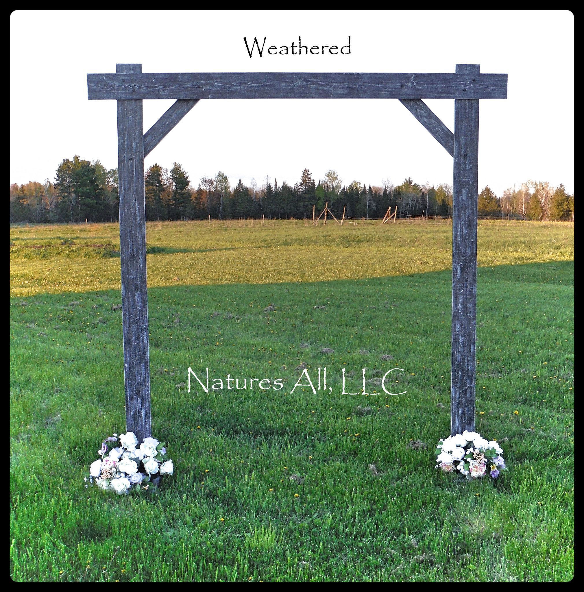 Rustic Country Wedding Arch Compete Kit For Indoor Or Outdoor Weddings Weathered Gray