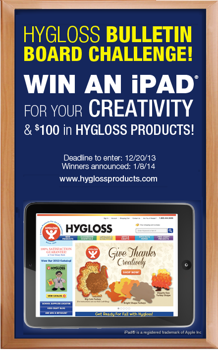 Wouldn't you like to stock up your classroom supplies for free? Enter to win!   Get the details and entry form here: https://www.hyglossproducts.com/Design_Challenge_Contest_a/412.htm  #ifIhadaniPad