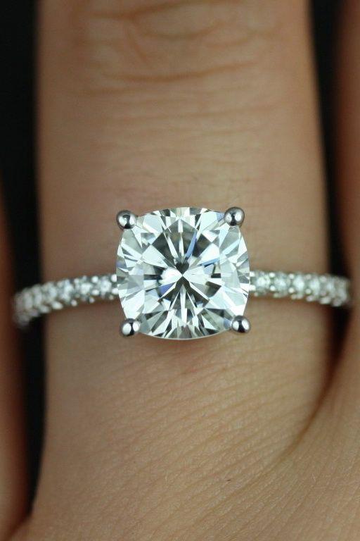 aa7f989ed76d9 TIFFANY   CO. NOVO Square Cushion Diamond Engagement Ring   Cushion ...