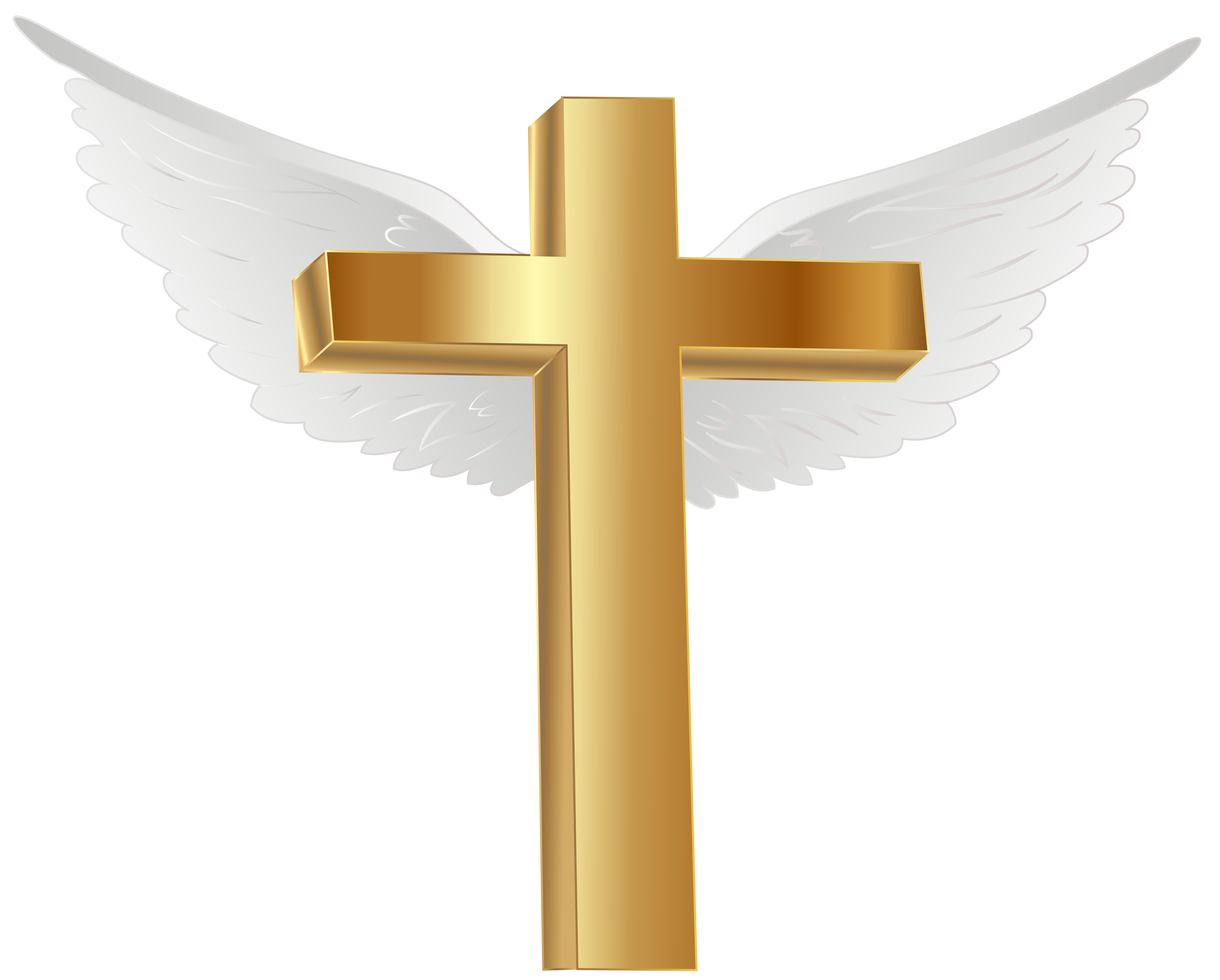 Gold Cross With Angel Wings Png Clip Art Image Gallery Yopriceville High Quality Images And Transparent Png Free Clip Angel Wings Png Wings Png Art Images