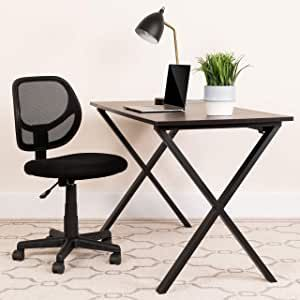 Contemporary Task Office Chair Low Back Design Ventilated Mesh Back Accordion Back Cover #NewHomes #ModelHomes #decorideas #mandalabookcase
