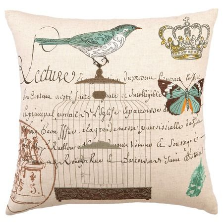I pinned this Bird Cage Pillow II from the Birds & the Bees event at Joss and Main!