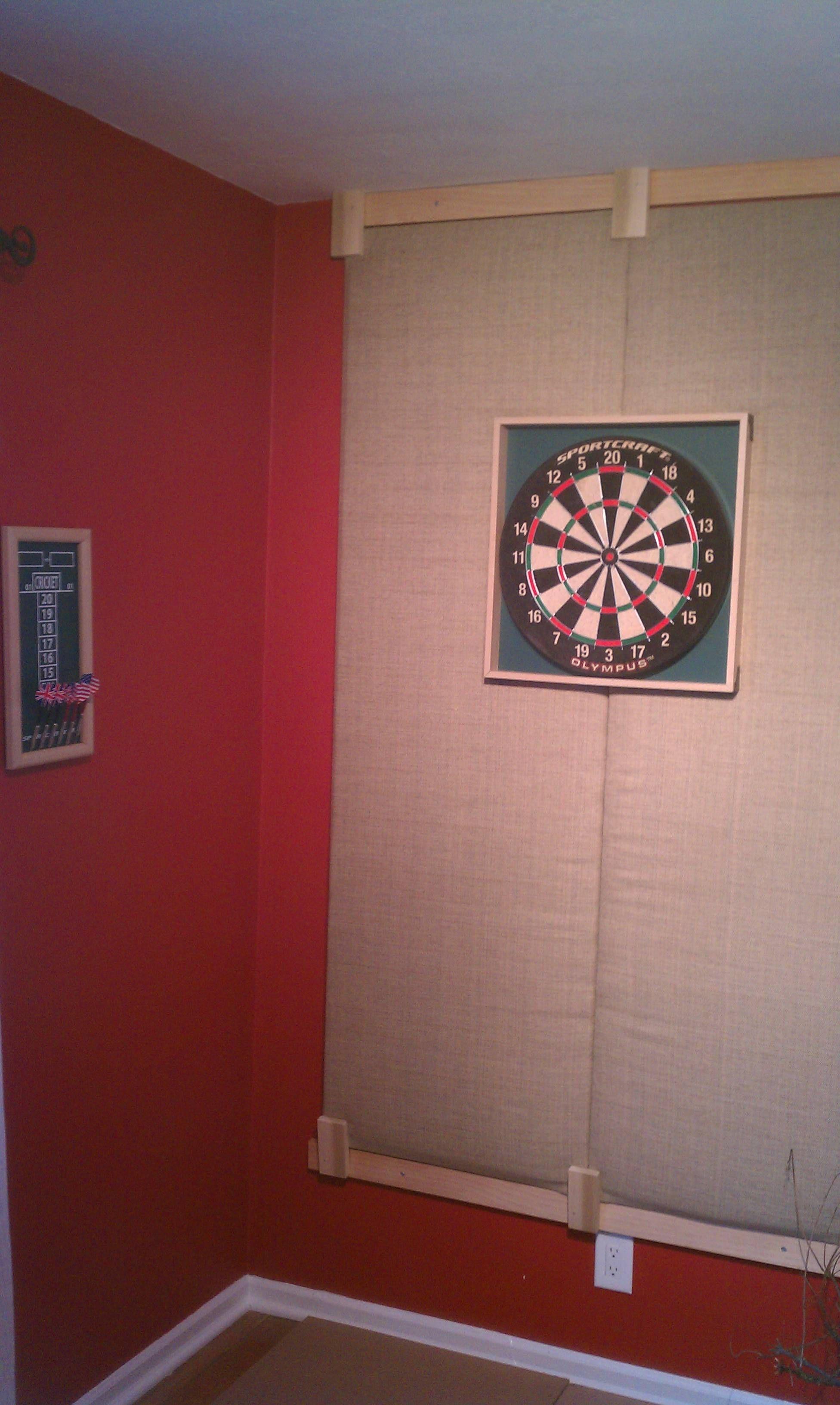 Dart Board Back Stop Dart Board Wall Game Room Basement Home