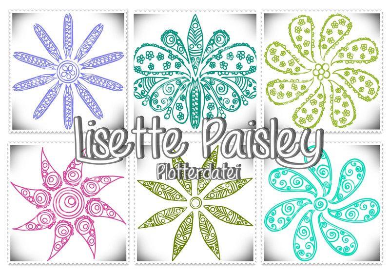 Digitale Downloads - Lisette Paisley Plotterdatei - ein Designerstück von regenbogenbuntes bei DaWanda
