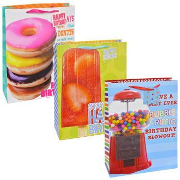 Voila Extra Large Sweet Tooth Birthday Gift Bag