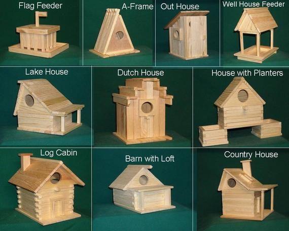 10 kits Wood Bird house kit collection