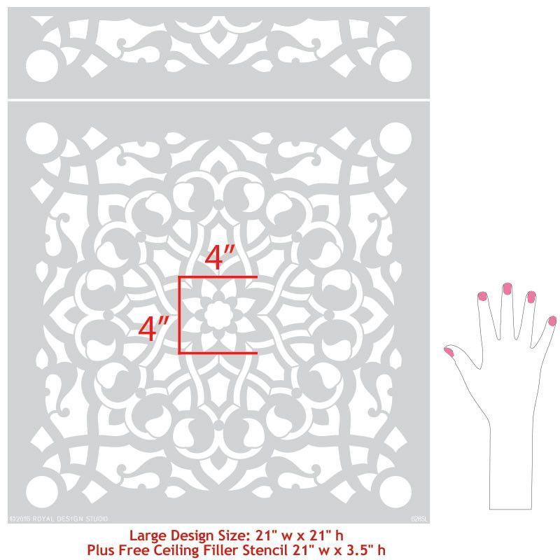 Zahara Moroccan Wall Stencil Moroccan wall stencils Stenciling