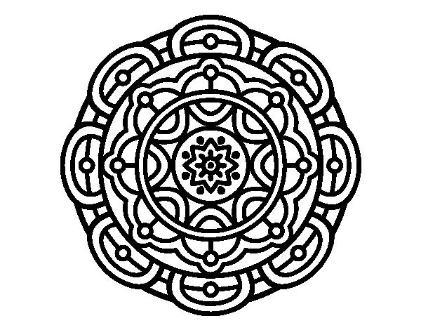 Libreta De Dibujo Mandala Unicornio Papel Blanco: Dibujo De Mandala Para La Relajación Mental Para Colorear