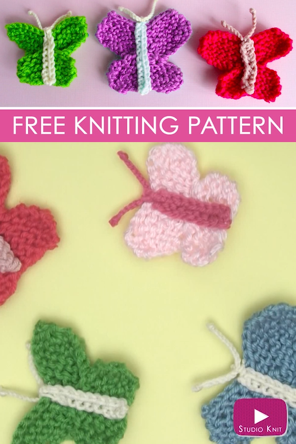 Photo of How to Knit a Butterfly (Knitting Pattern)