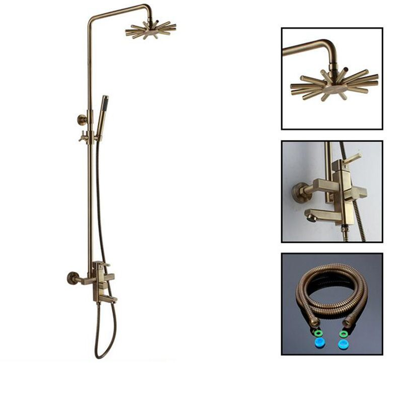 Brass Bathroom Shower Faucet Sets Rotatable Lifting Type Hot and ...