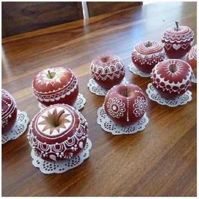 esta idea es ideal para presentar las frutas en la cena de navidad hoy te mostramos como hacerlo con las manzanas lo que necesitaras manzanas meu