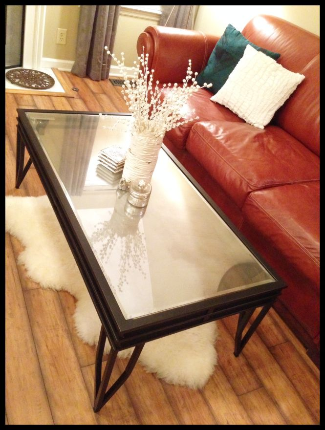 Perfect DIY Mirrored Glass Paint On Coffee Table