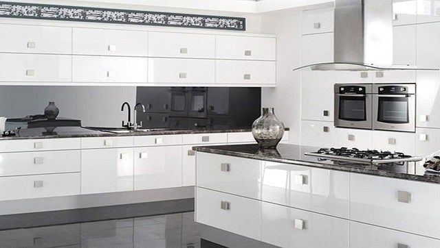 Best Reflections High Gloss White Kitchen Modern Kitchen High 400 x 300