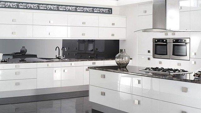 Best Reflections High Gloss White Kitchen Modern Kitchen High 640 x 480
