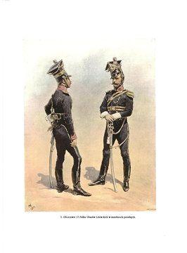Oficerowie 17 p.u.w mundurach wielkich.