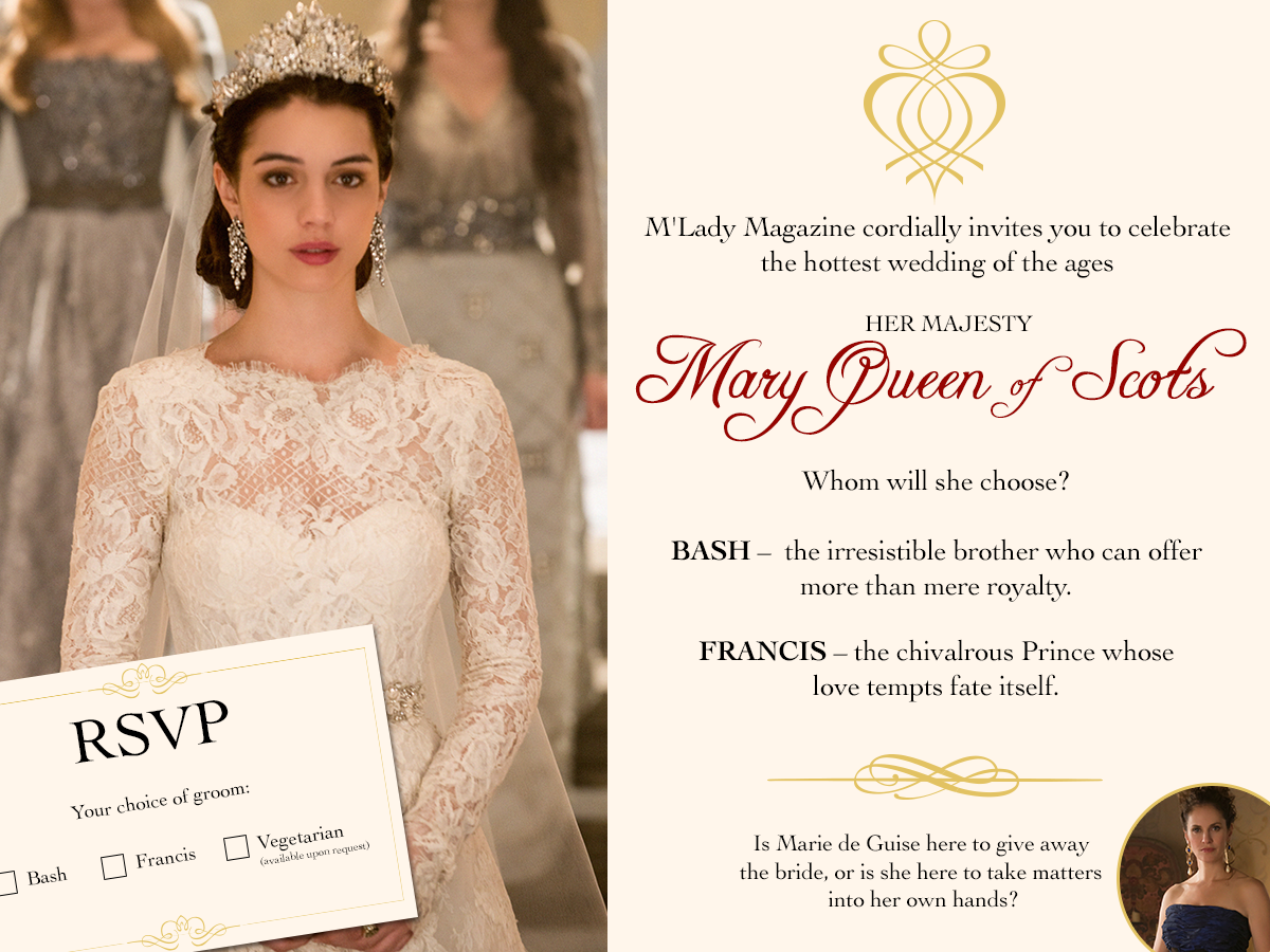 M'Lady Magazine: Something old, something new…which groom will make it through? Don't miss an all new #Reign TONIGHT at 9/8c!