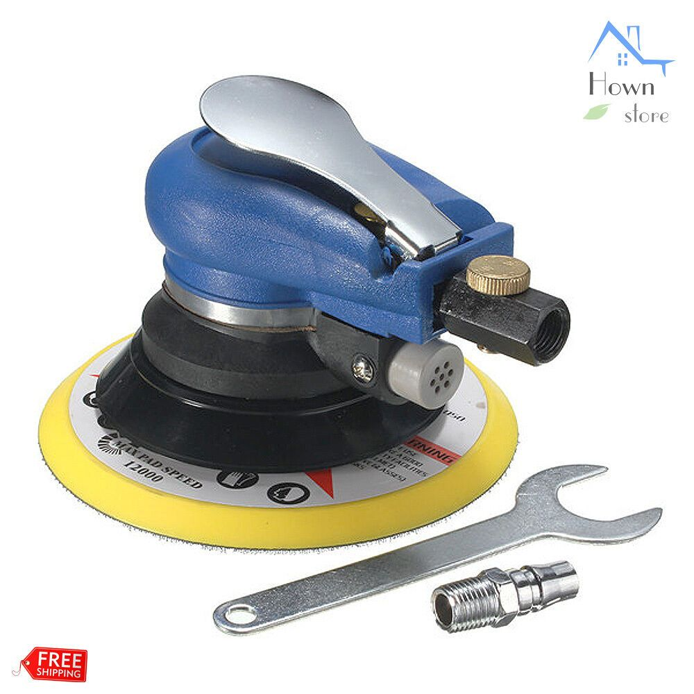 6 Random Orbital Air Vacuum Polisher Palm Sander Sanding Pad Dual Action Tool With Images Best Random Orbital Sander Auto Body Sanding Tools