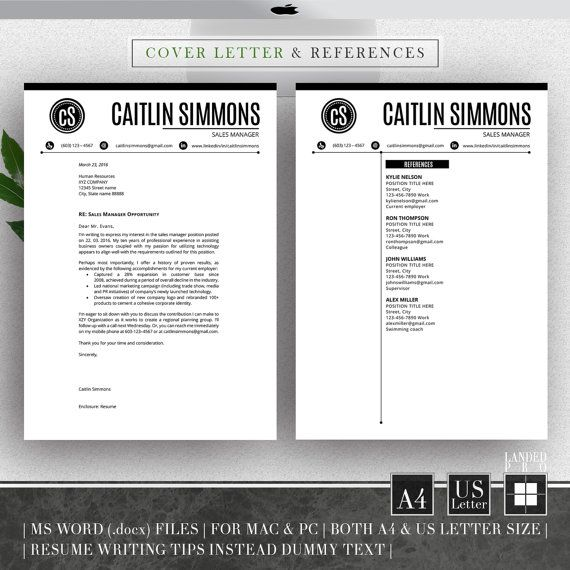 Professional Resume Template Resume Design  Cover By Landedpro