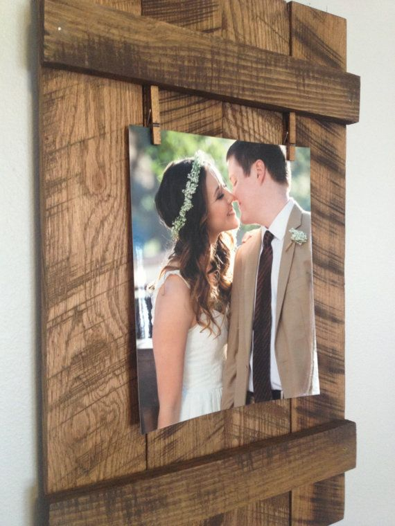 Rustic Reclaimed 8x10 Pallet Picture Frame by DunnRusticDesigns ...