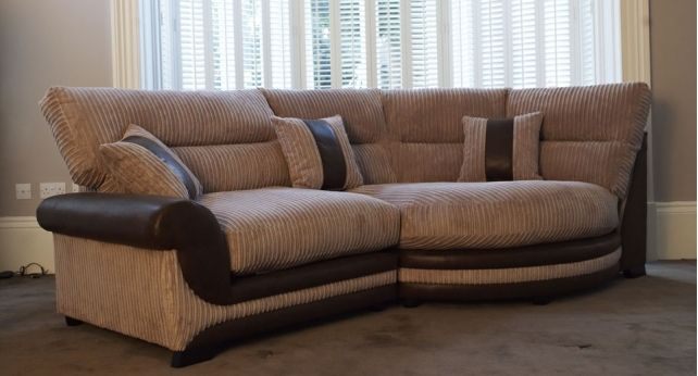 Kirk Cuddle Sofa Right Hand Facing Sofa Standard Back @ ScS Sofas.  Contemporary Fabric Sofa