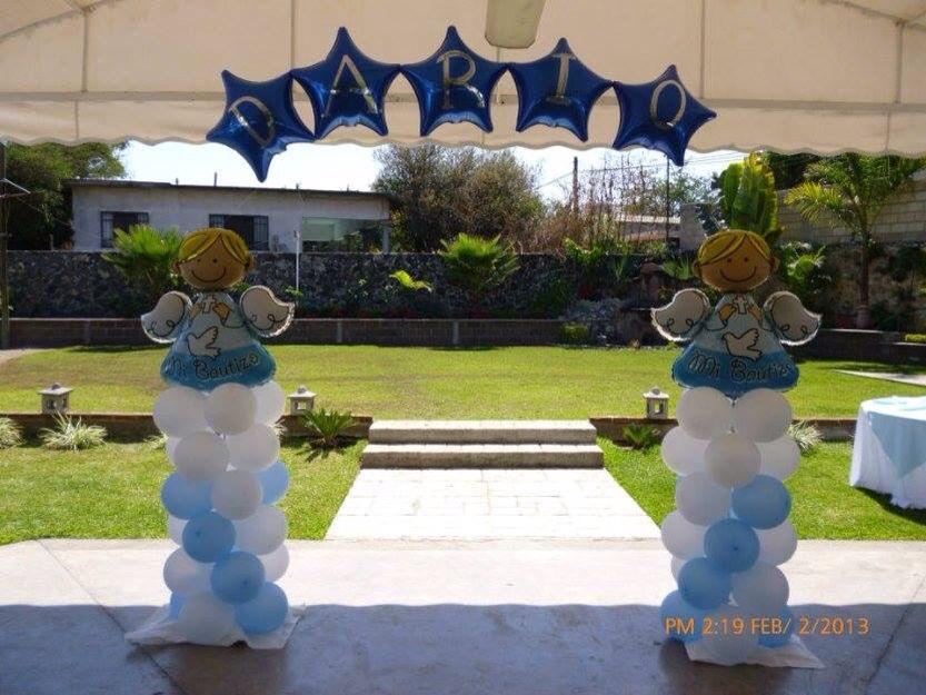 Balloon Arch En 2019 Decoración Con Globos Bautizo Globos