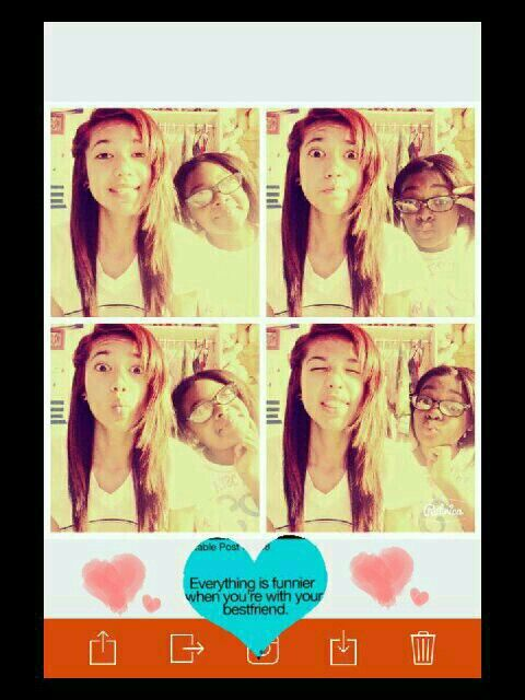 Everything is funnier when your with your best friend.♥