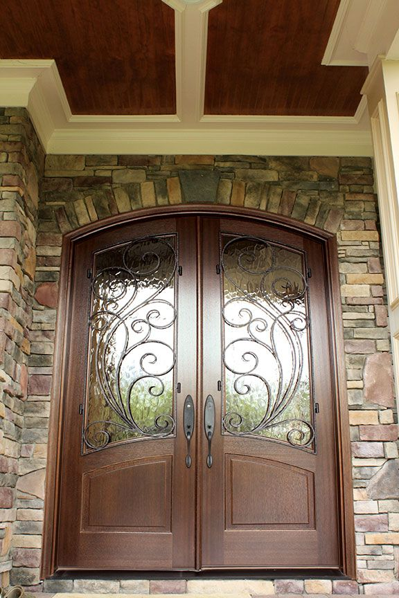 Aberdeen Redwood Arched Top Door W Flemish Glass Photographed By Cristina Avgerinos Mcdonald
