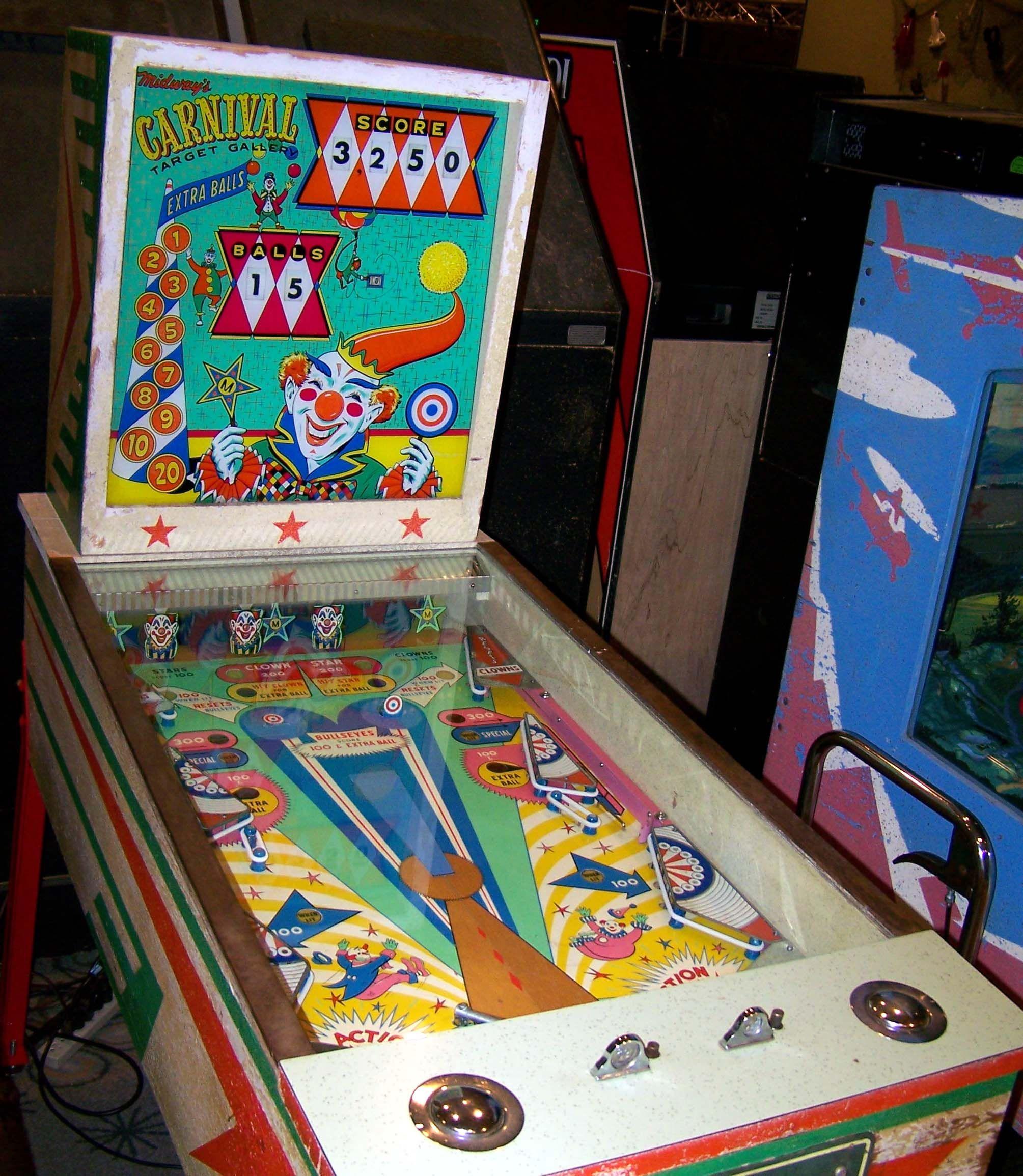 """1963 Carnival """"Midway"""" Pinball Machine"""