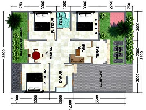 17 Desain Rumah Minimalis Modern 3 Kamar Tidur Paling Bagus | Rumah  Minimalis, Denah Rumah, Desain Rumah