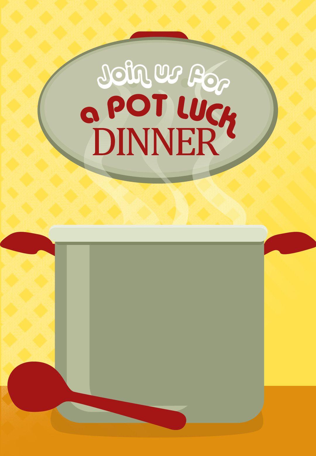 Free Printable Pot Luck Dinner Invitation | Kids / Birthday Parties ...